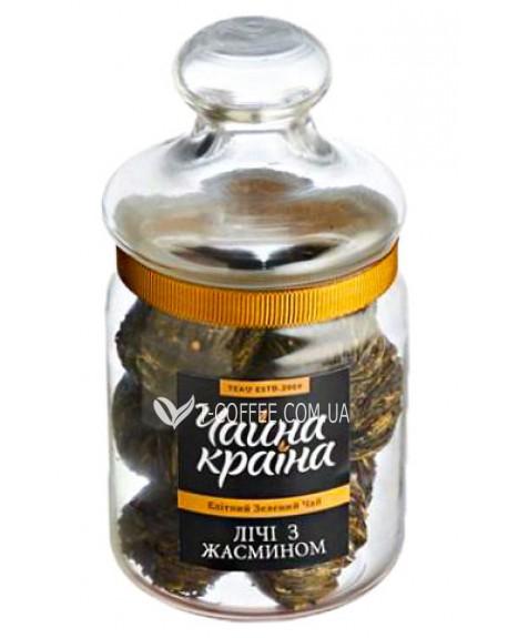 Личи с Жасмином зеленый вязаный чай Чайна Країна 100 г ст. б.