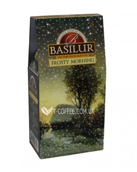 Чай BASILUR Frosty Morning Морозное Утро - Морозная 100 г к/п (4792252928152)