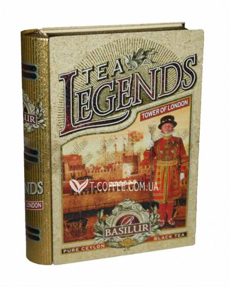 Чай BASILUR Tower of London Лондонский Тауэр - Чайные Легенды 100 г ж/б (4792252923959)