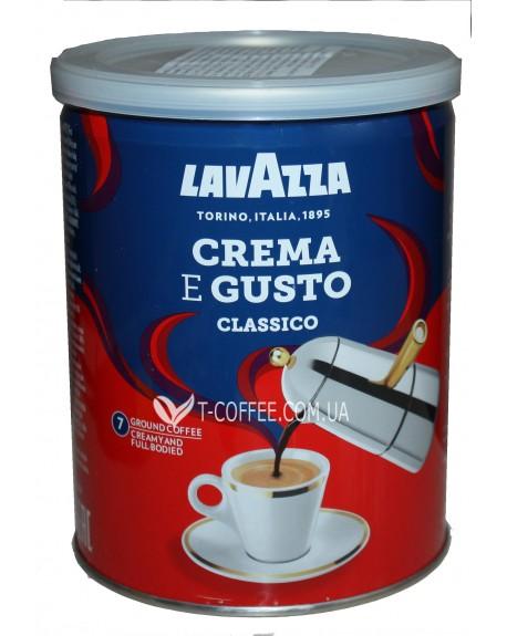 Кофе Lavazza Crema e Gusto Classico молотый 250 г ж/б (8000070038820)