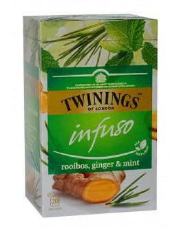 Чай TWININGS Infuso Rooibos Ginger Mint Ройбуш Імбир М'ята 20 х 2 г (070177177713)