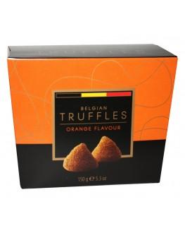 Цукерки BELGIAN TRUFFLES Orange Flavour Апельсин 150 г в коробці (5420066370049)