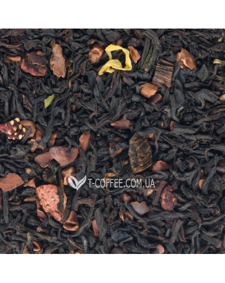 Клубника с Ароматом Шоколада черный ароматизированный чай Чайна Країна