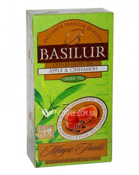 Чай BASILUR Apple Cinnamon Яблоко Корица - Волшебные Фрукты 25 х 2 г (4792252934610)
