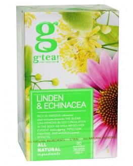 Чай GRACE! Green Tea Linden Echinacea Зелений чай Липа Ехінацея - The Bright Collection 20 х 2 г (5060207695879)