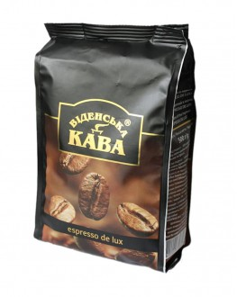 Кофе ВІДЕНСЬКА КАВА Espresso De Luxe зерновой 500 г (4820000370660)