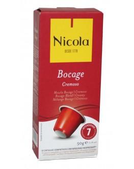 Кофе NICOLA Nespresso Bocage Cremoso в капсулах 10 х 5 г (5601132002143)