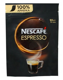 Кофе NESCAFE Espresso 100% Арабика растворимый 60 г эконом.пак. (7613035692978)