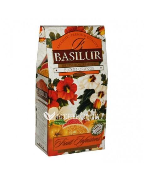 Чай BASILUR Blood Orange Красный Апельсин - Фруктовые Коктейли 100 г к/п (4792252923898)