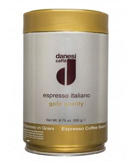 Кофе DANESI Gold Quality зерновой 250 г ж/б (8000135131428)