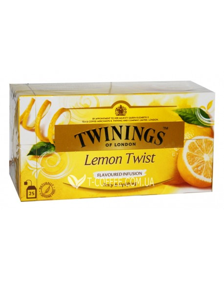 Чай TWININGS Lemon Twist Лимон Твист 25 х 1,5 г (070177083831)