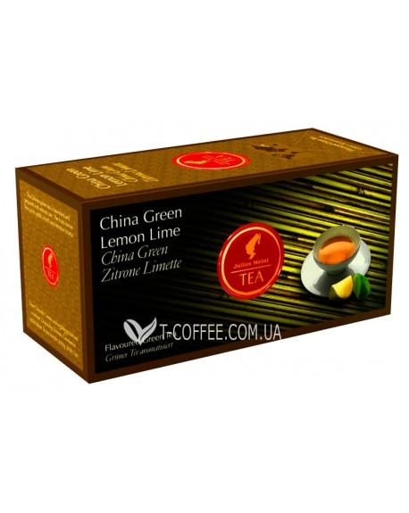 Чай Julius Meinl China Green Lemon Lime Зеленый Лимон Лайм 25 х 1,75 г (9000403822828)