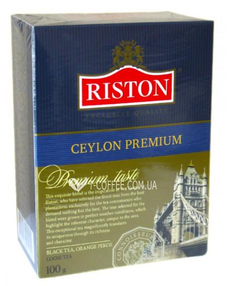 Чай Riston Ceylon Premium Цейлонский Премиальный 100 г к/п