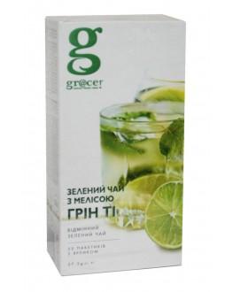 Чай GRACE! Green Tea with Melissa Зелений чай з Мелісою - Бестселер 25 х 1,5 г (5060207692601)