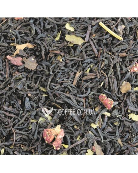 Земляника со Сливками черный ароматизированный чай Світ чаю