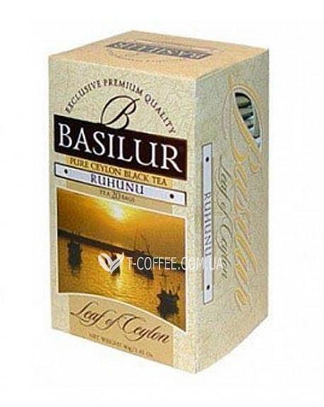 Чай BASILUR Ruhunu Рухуну - Лист Цейлона 20 х 2 г (4792252001206)