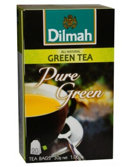 Чай DILMAH Pure Green Tea Зелений 20 x 1,5 г (9312631142433)