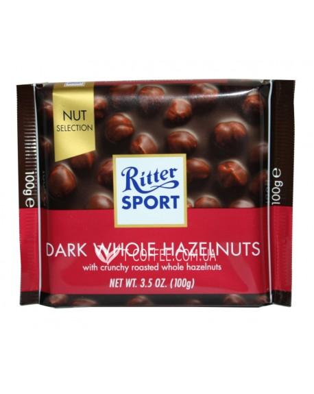 Шоколад Ritter Sport Dark Whole Hazelnuts Темный c Лесным Орехом 100 г