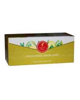 Чай JULIUS MEINL Green Fresh Lemon Mint Зеленый Лимон Мята 25 х 1,74 г (9000403885892)