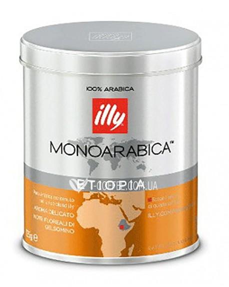 Кофе illy Monoarabica Etiopia нормальной обжарки 125 г молотый ж/б