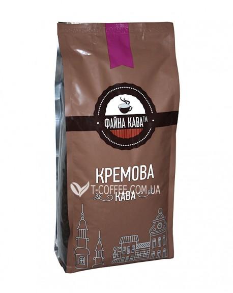 Кофе ФАЙНА КАВА Кремова Кава зерновой 1 кг (4820195670064)