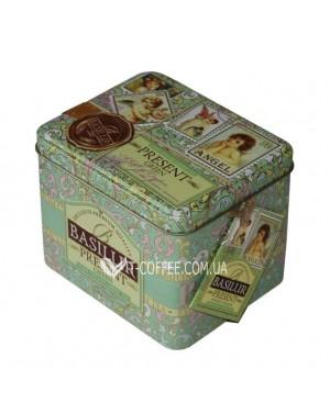 Чай BASILUR Green Caddy Зеленый Подарок - Праздничная 100 г ж/б (4792252100183)