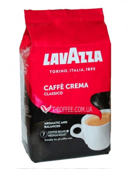 Кофе Lavazza Caffe Crema Classico зерновой 1 кг (8000070027411)