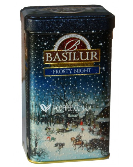Чай BASILUR Frosty Night Морозная Ночь - Морозная 85 г ж/б (4792252932067)