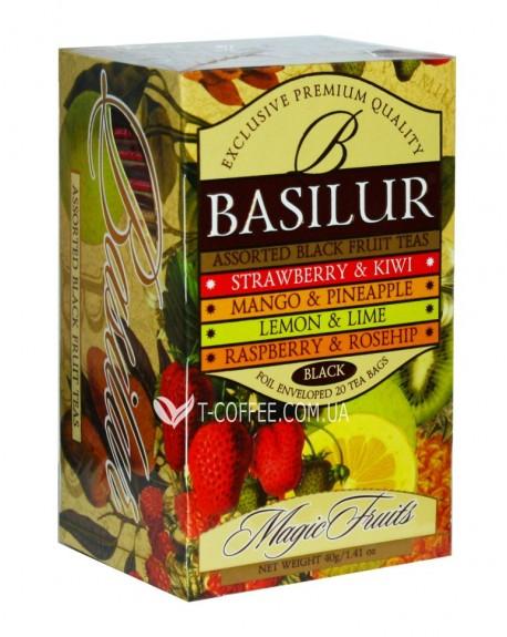 Чай BASILUR Assorted Black Tea Ассорти Черный Чай - Волшебные Фрукты 20 х 2 г (4792252001107)