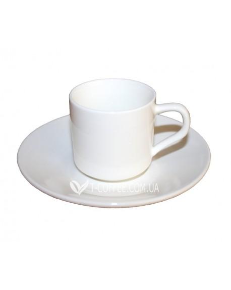 Чашка с блюдцем Wilmax для эспрессо фарфоровая 90 мл