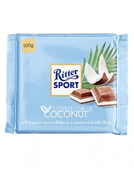 Шоколад Ritter Sport Coconut Кокос 100 г (4000417298003)