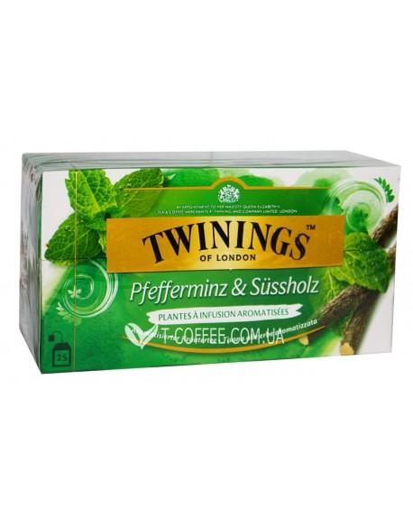 Чай TWININGS Peppermint Liquorice Мята Лакрица 25 х 2 г (070177162054)