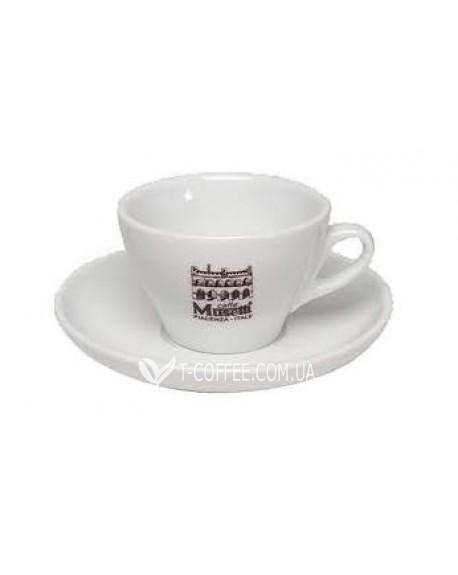 Чашка с блюдцем Musetti для каппуччино фарфоровая 180 мл