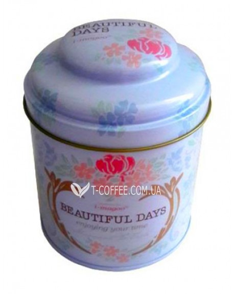 Банка Beautiful Days Белая жестяная 150 г