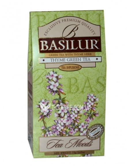 Чай BASILUR Thyme Чабрец Зеленый Чай - Травяные Сборы 75 г к/п (4792252932036)
