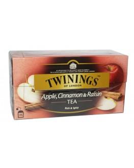 Чай TWININGS Apple Cinnamon Raisin Tea Яблуко Кориця Родзинки 25 х 2 г (070177120948)
