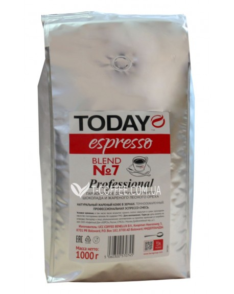 Кофе Today Espresso Blend № 7 Professional зерновой 1 кг (506030057045)