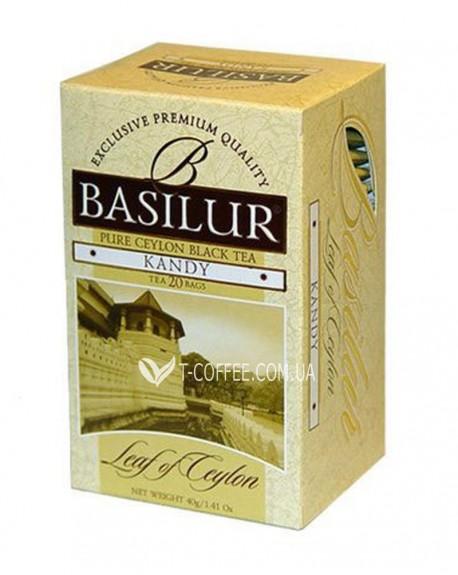 Чай BASILUR Kandy Канди - Лист Цейлона 20 х 2 г (4792252001183)