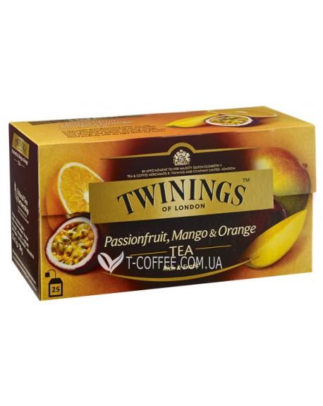 Чай TWININGS Passionfruit Mango Orange Tea Маракуйя Манго Апельсин 25 х 2 г (070177120993)