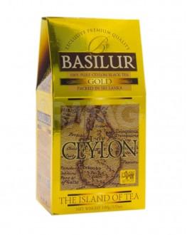 Чай BASILUR Gold Золотой - Чайный Остров 100 г к/п (4792252001152)