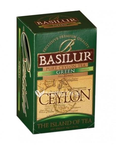 Чай BASILUR Green Зеленый - Чайный Остров 20 х 1,5 г