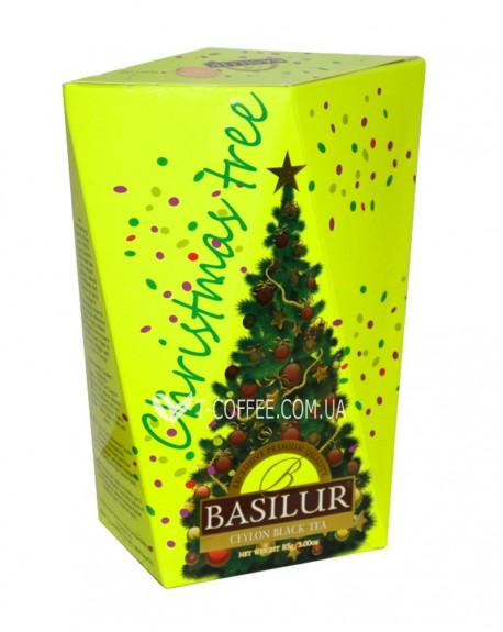 Чай BASILUR Елка Желтая - Рождественская Ель 85 г к/п (4792252932708)