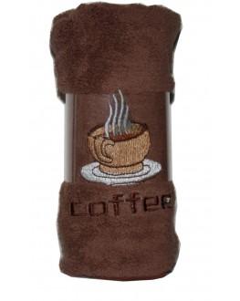 Рушник мікрофібра з вишивкою Чашка Кави