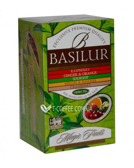 Чай BASILUR Assorted Green Tea Ассорти Зеленый Чай - Волшебные Фрукты 20 х 1,5 г (4792252935655)
