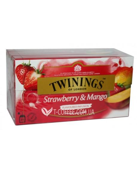 Чай TWININGS Strawberry Mango Клубника Манго 25 х 2 г (070177083618)