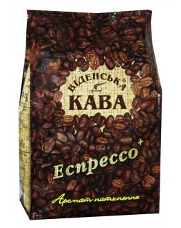 Кофе ВІДЕНСЬКА КАВА Espresso+ зерновой 500 г (4820000370387)