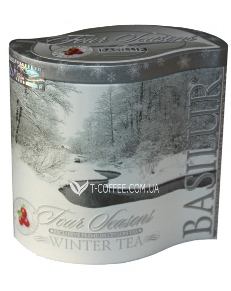 Чай BASILUR Winter Tea Зимний - Времена Года 100 г ж/б (4792252929197)