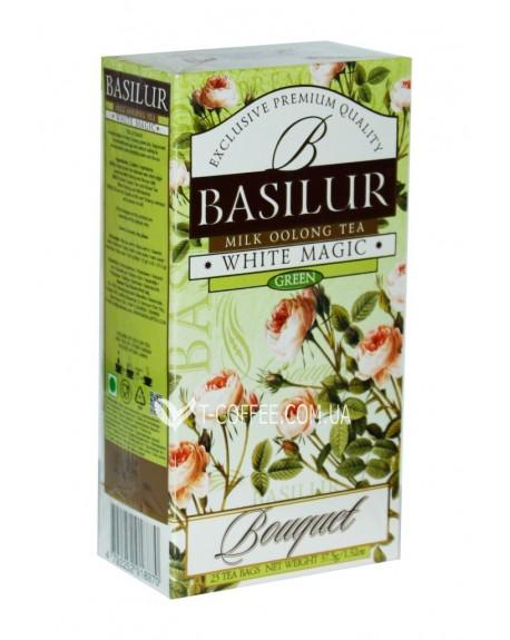Чай BASILUR White Magic Белое Волшебство - Букет 25 х 1,5 г (4792252918870)