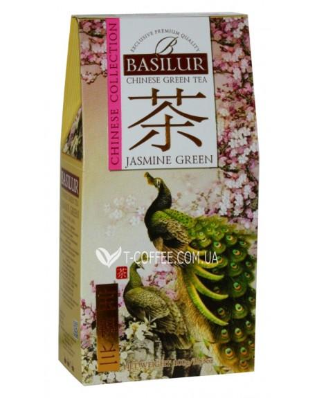 Чай BASILUR Jasmine Green Зеленый Жасмин - Китайская 100 г к/п (4792252936812)