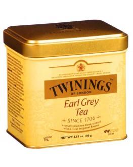 Чай TWININGS Earl Grey Tea Ерл Грей 100 г ж/б (070177029623)